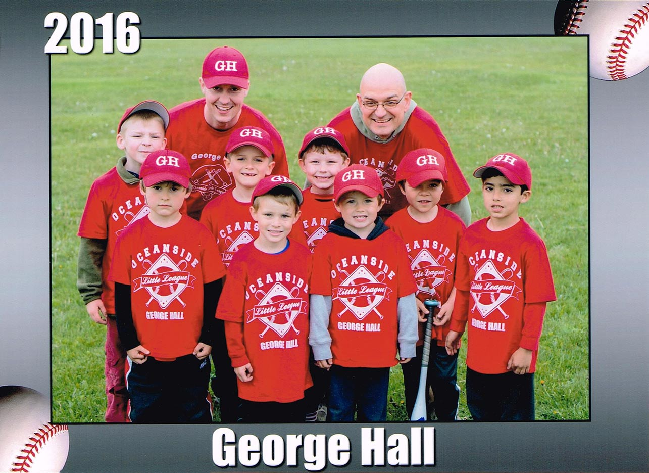 2016 George C. Hall - Oceanside Little League Boys Team