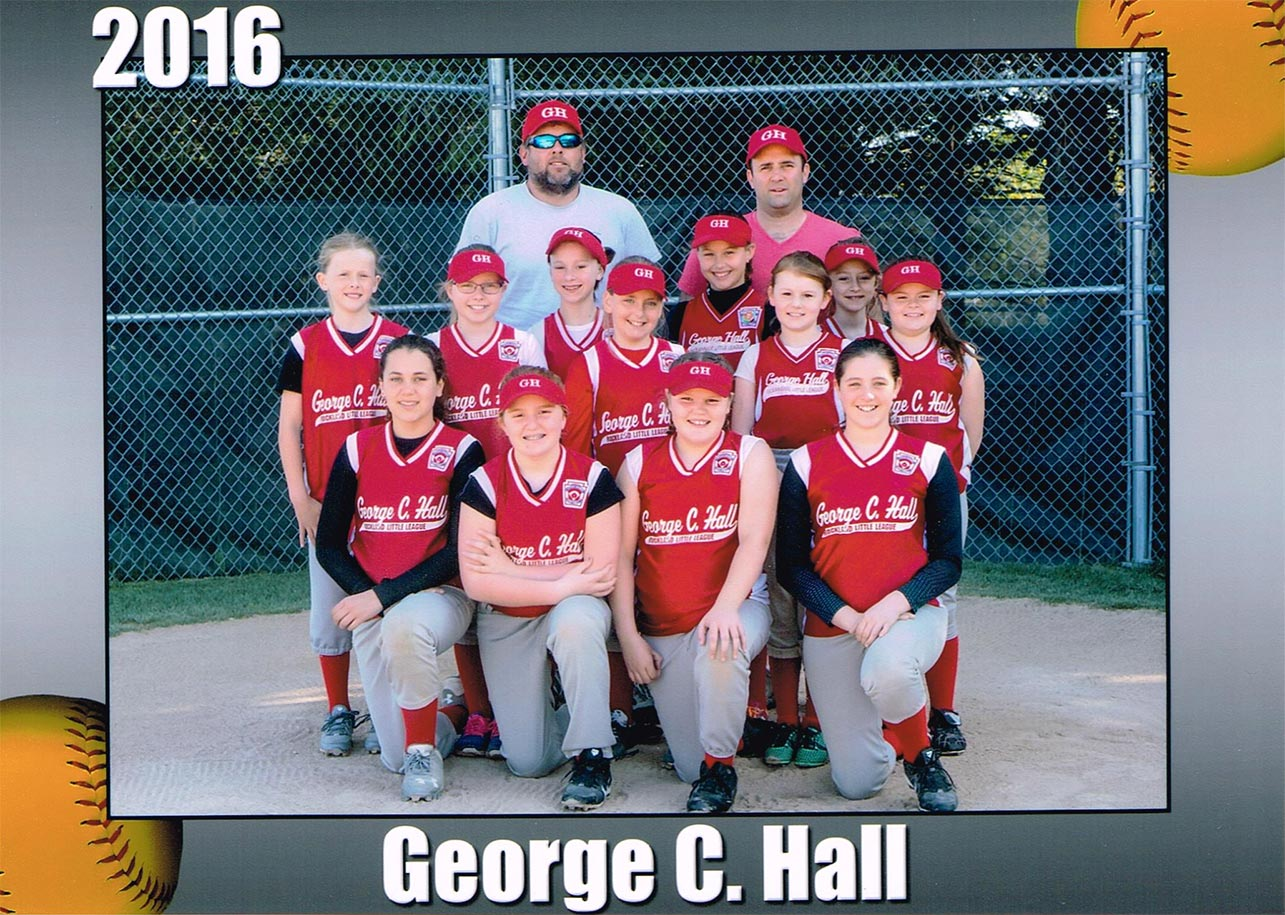 2016 George C. Hall - Little League Girls Team